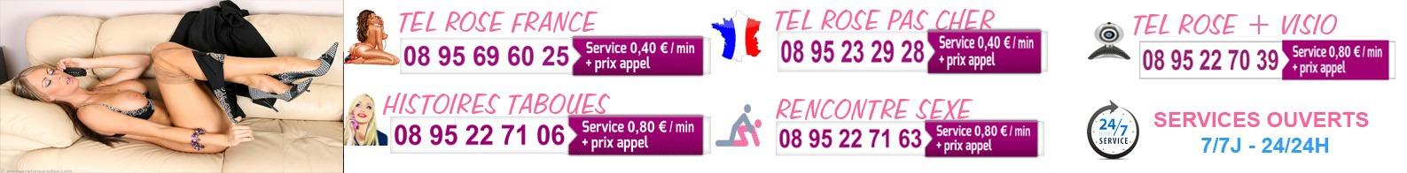 Femmes françaises pour du tél rose amateur